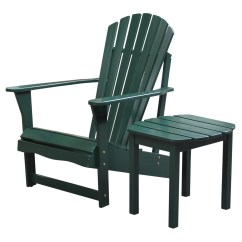 Adirondack Chairs Walmart Swivel Chair With Ottoman And Side Table In Hunter Green