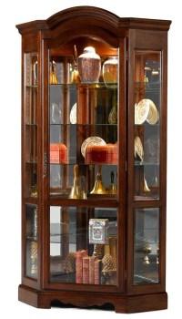 Arch Top Corner Curio Cabinet