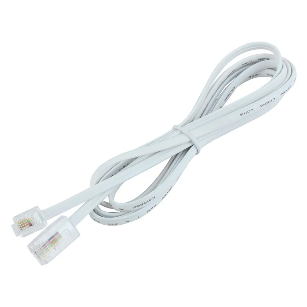 medium resolution of 5 6ft telephone rj11 6p4c to rj45 8p4c connector plug cable walmart com