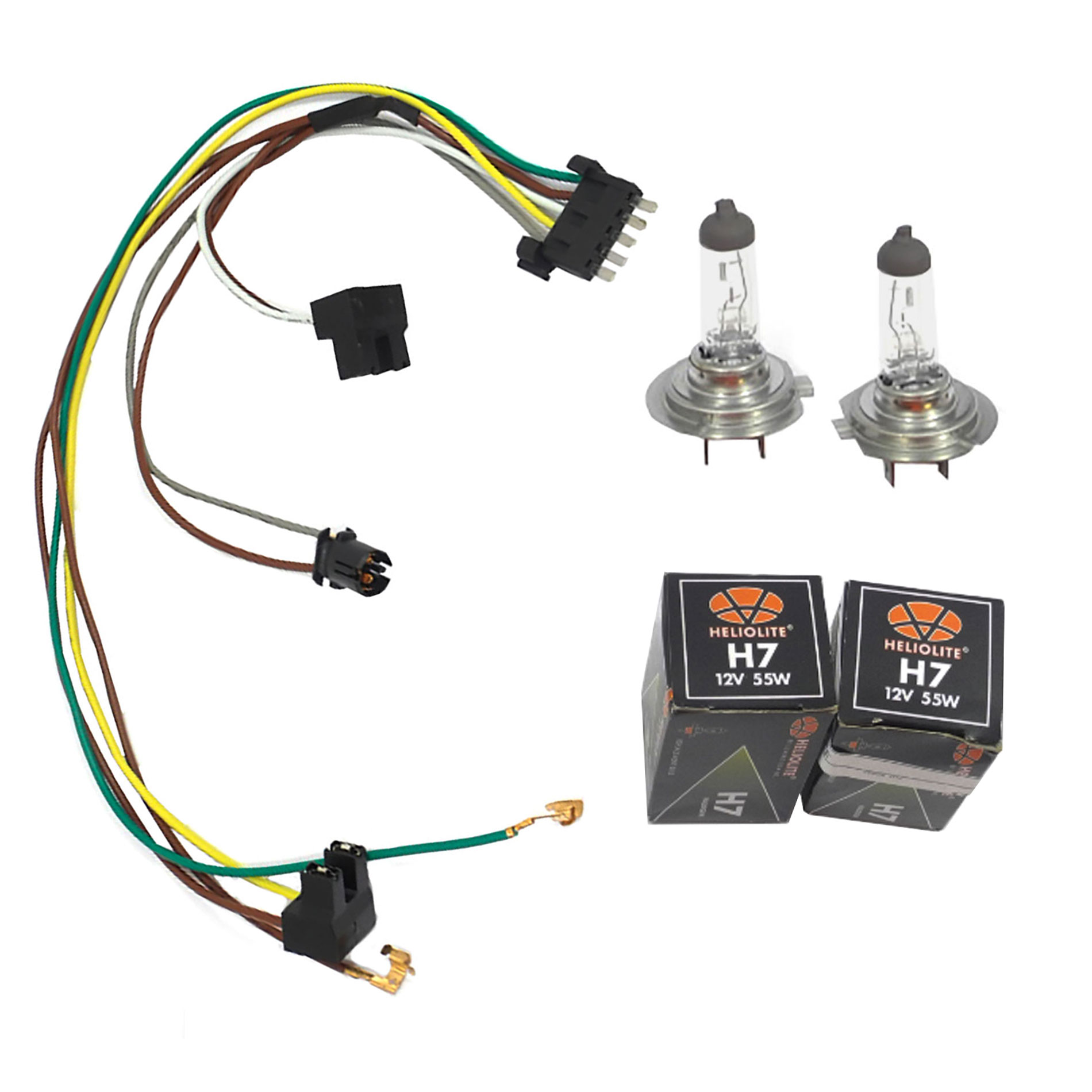 hight resolution of cf advance for 02 05 mercedes benz c230 c320 left or right headlight wiring harness and h7 55w headlight bulb 2002 2003 2004 2005 walmart com
