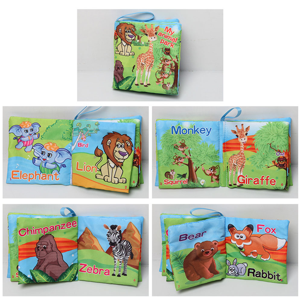 1pc Baby Early Learning Soft Cloth Books Creative Squeak