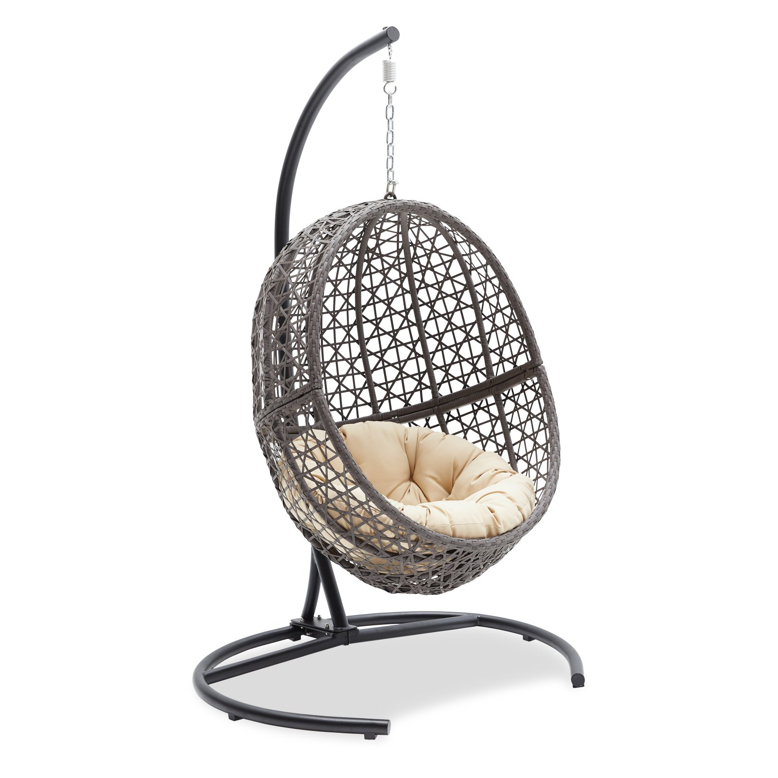 Cheap Hanging Egg Chair Belham Living Resin Wicker Hanging Egg Chair With Cushion And Stand
