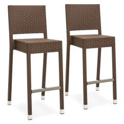 Outdoor Bar Chairs Oak Ladder Back Stools Walmart Com Product Image Best Choice Products Set Of 2 Wicker Brown