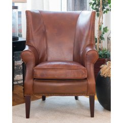 Traditional Leather Wingback Chair Hip Replacement Elements Fine Home Furnishings Brayden Walmart Com