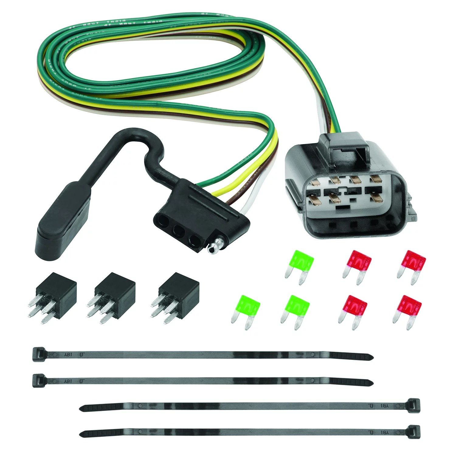 tekonsha 118270 trailer wiring connector 4 way flat replacement for oem wiring harness with circuit protected modulite hd module [ 1500 x 1500 Pixel ]