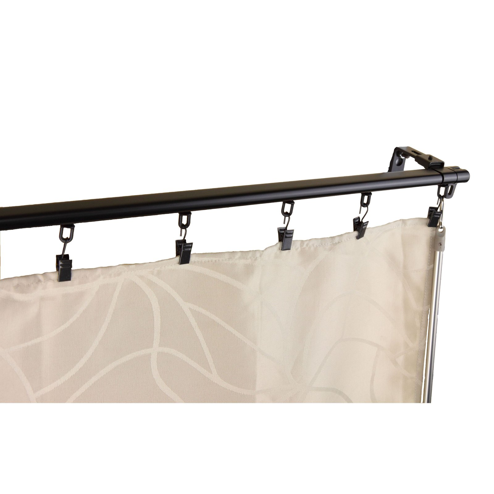 instyledesign heavy duty white wall or ceiling curtain track room divider