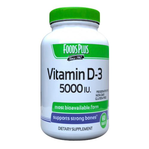 Foods Plus Vitamin D3 5000 IU Tablets. 60 Ea - Walmart.com