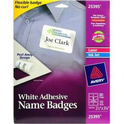 Baby Chairs At Walmart Hydraulic Stool Chair Avery(r) White Adhesive Name Badges 25395, 2-1/3