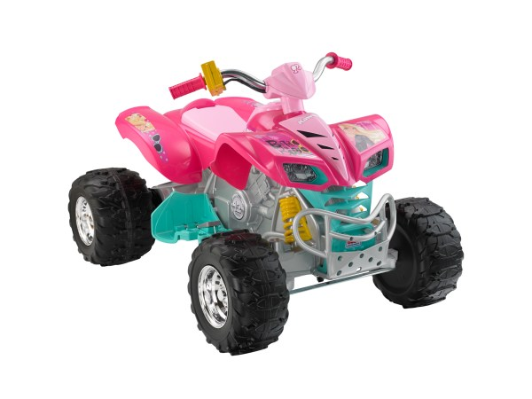 Kids Power Wheels Barbie Kfx 12-volt Battery-powered Ride- Quad Atv 12v Toy