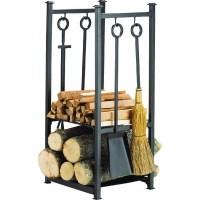 Home Impressions Fireplace Tool Set with Log Rack ...