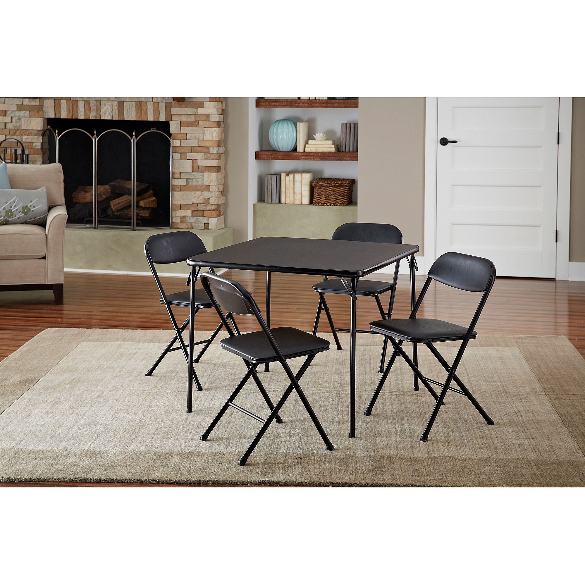 walmart table and chair sets 2 person camping cosco 5 piece card set black com