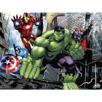 Marvel Avengers Landscape Canvas Wall Art with LED ...