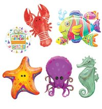 Under The Sea Animal Party Supplies and Birthday Balloon ...