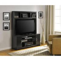 Altra Woodland Black Home Entertainment Center for TVs up ...