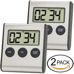 Digital Kitchen Timers Open Sink Timer Anko Cooking Clock Stainless Steel Shell Large Digits Display