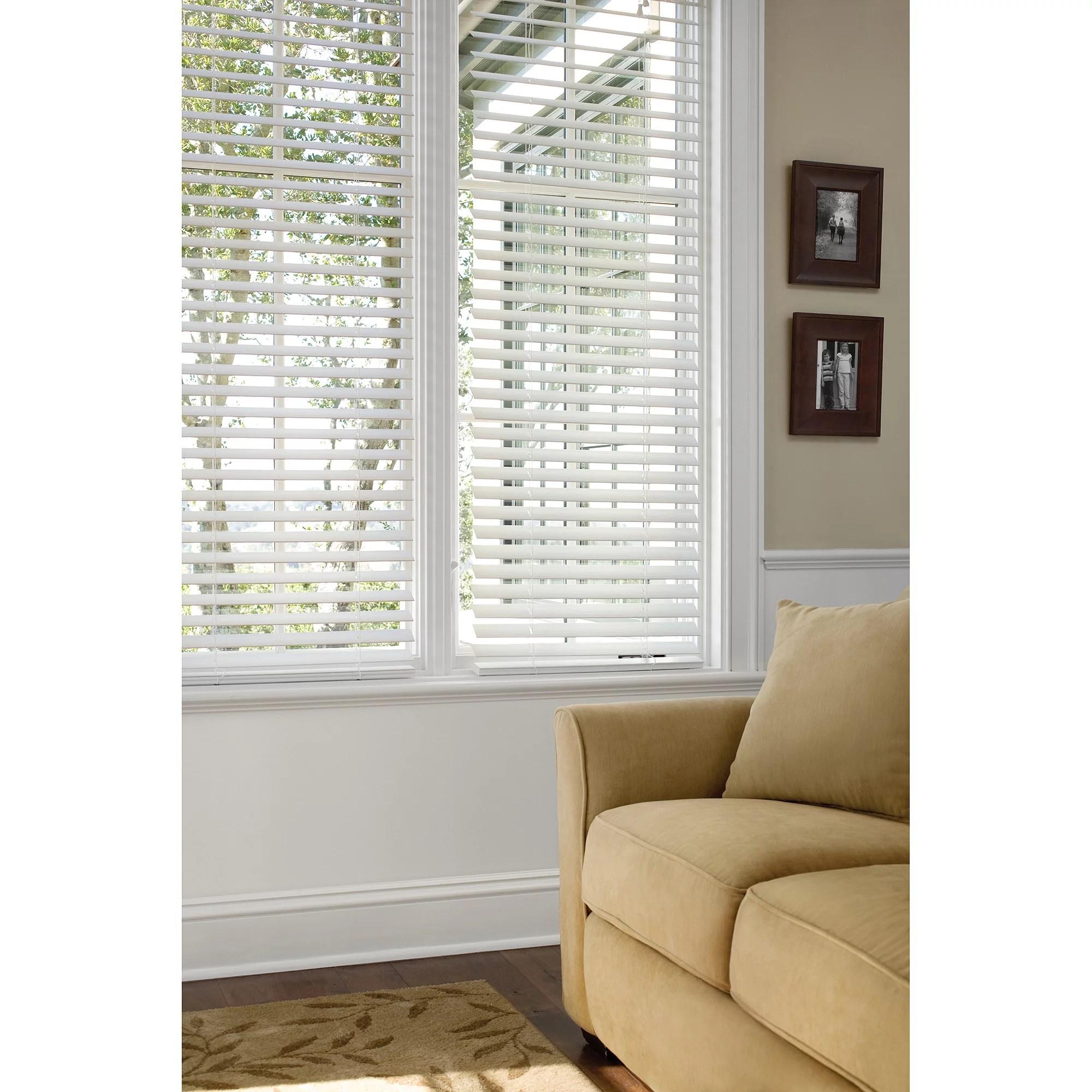 Faux Horizontal Window Wood Blinds Home Furniture