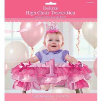 1st Birthday Deluxe High Chair Decoration, Girl - Walmart.com