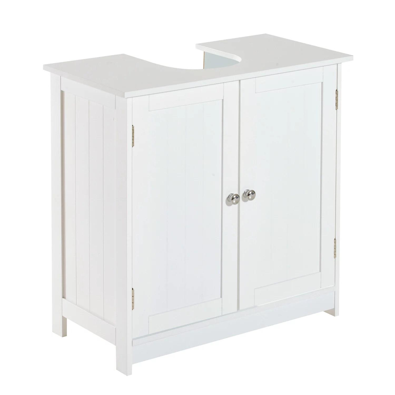 homcom 24 pedestal sink bathroom vanity cabinet white
