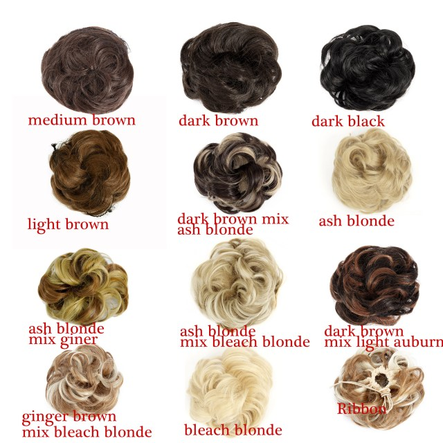 nk beauty synthetic hair scrunchies bridal hair bun updo scrunchy synthetic hair pieces extension for women