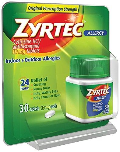 Zyrtec Allergy Tablets 10 mg 30 ct - Walmart.com