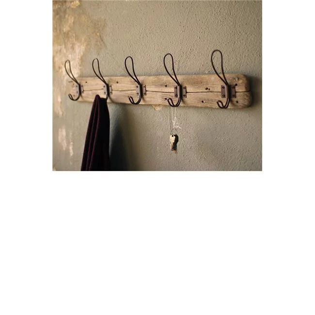 recycled wood farmhouse wall mounted coat rack