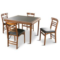 Vintage 5 Piece Folding Table and Chairs Set - Walmart.com