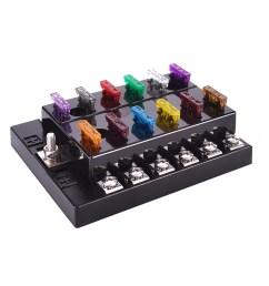 dc 32v 12 way terminals circuit atc ato car auto blade fuse box block holder with fuse puller amp connectors walmart com [ 1002 x 1002 Pixel ]