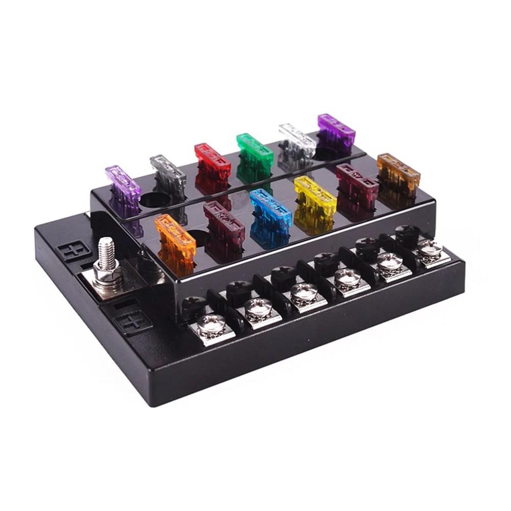 medium resolution of dc 32v 12 way terminals circuit atc ato car auto blade fuse box block holder with fuse puller amp connectors walmart com