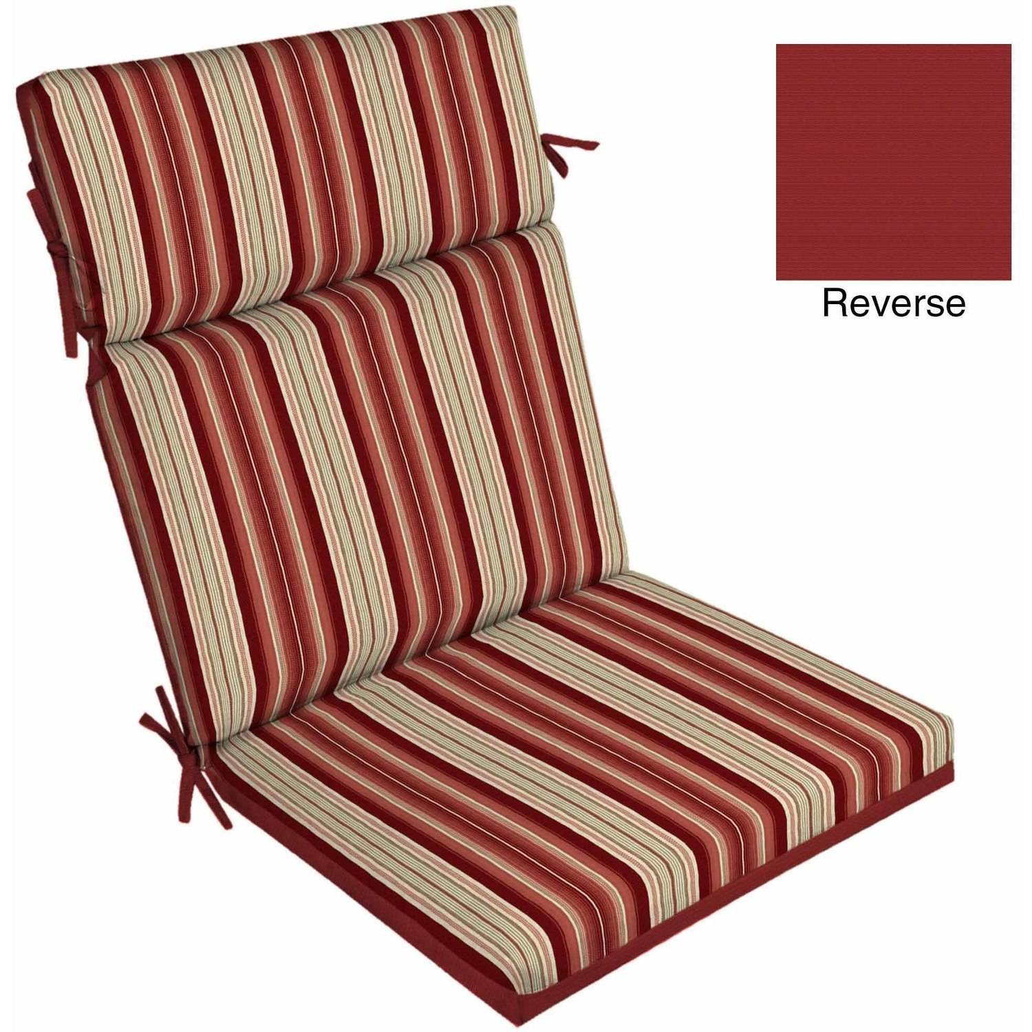 Patio Chair Cushions Cheap Better Homes And Gardens Outdoor Patio Reversible Dining Chair Cushion
