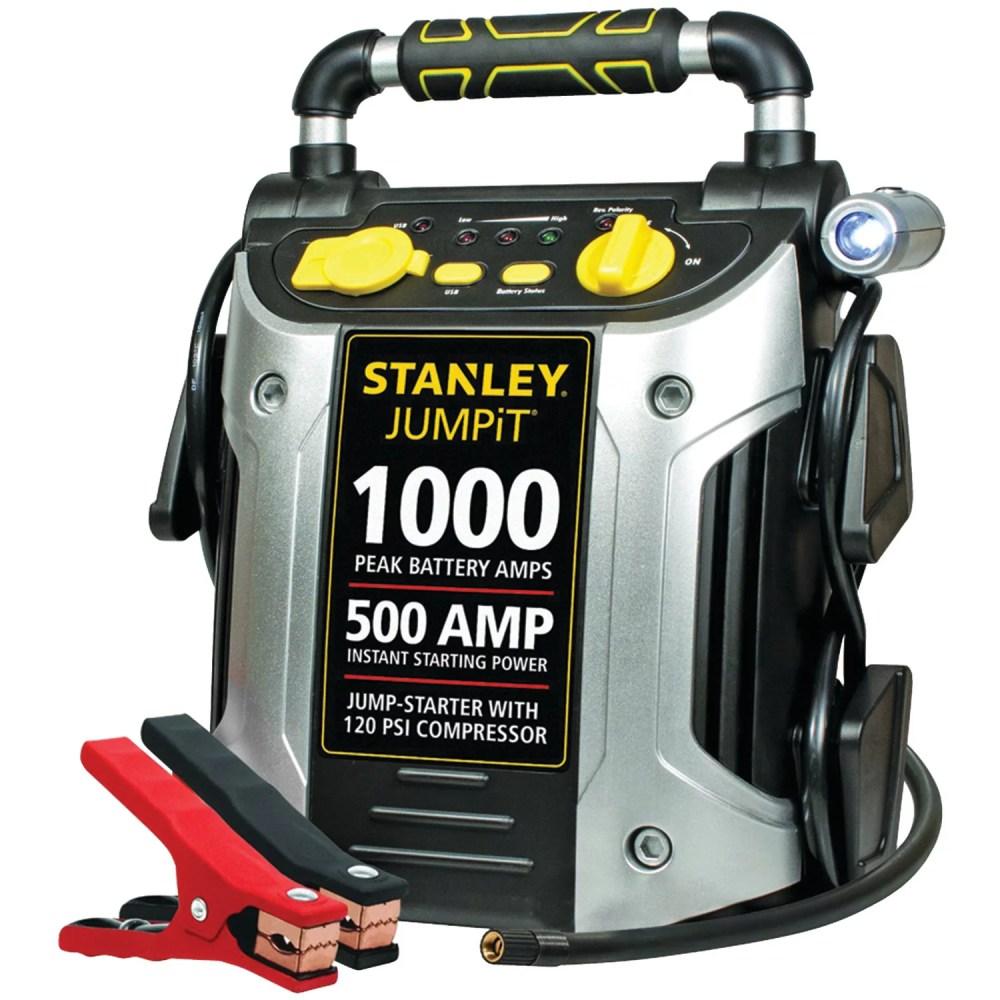 medium resolution of stanley j5c09 1000 peak jump starter with air compressor walmart com