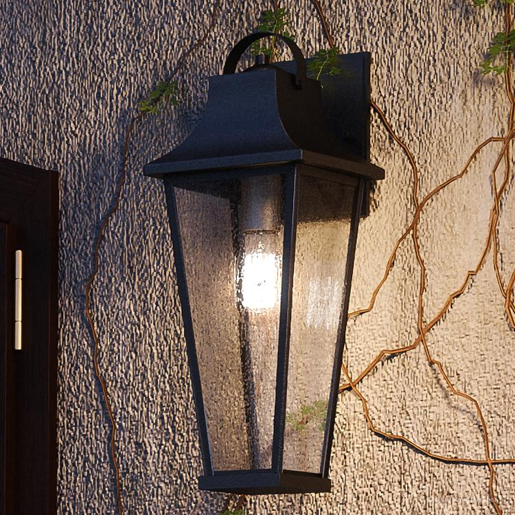 urban ambiance luxury tudor outdoor wall light large size 22 h x 8 75 w with farmhouse style elements black sand finish uql1283 from the