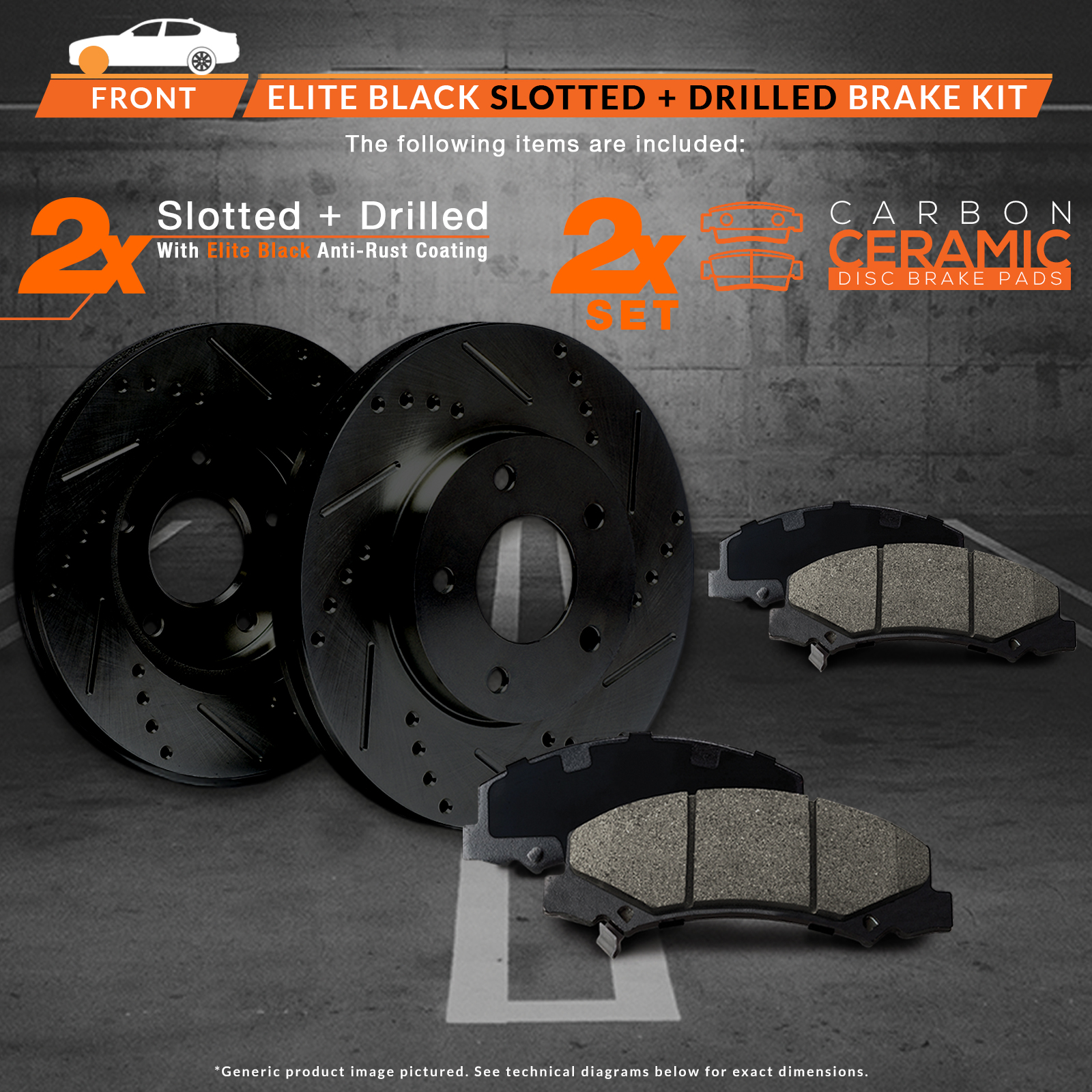 small resolution of max brakes front elite brake kit e coated slotted drilled rotors ceramic pads kt058081 fits 1994 94 1995 95 ford mustang svt cobra gt bullitt