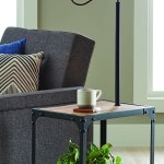 Better Homes And Garden 4 Foot 7 Inch End Table Floor Lamp With Usb Port Weathered And Black Finish Walmart Com Walmart Com