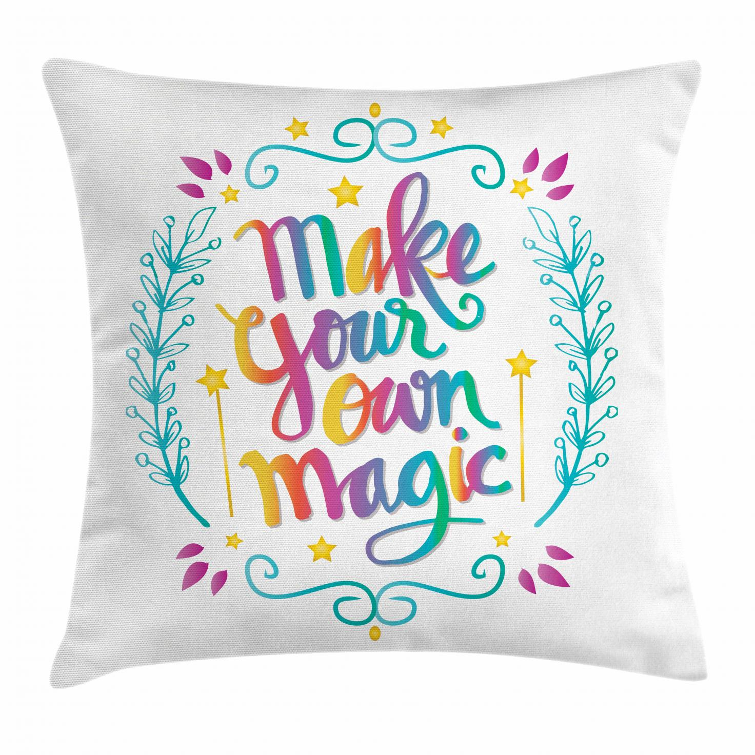 quote throw pillow cushion