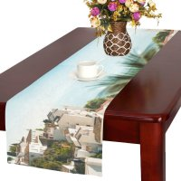 MYPOP Spanish Village Cotton Linen Table Runner 16x72 ...