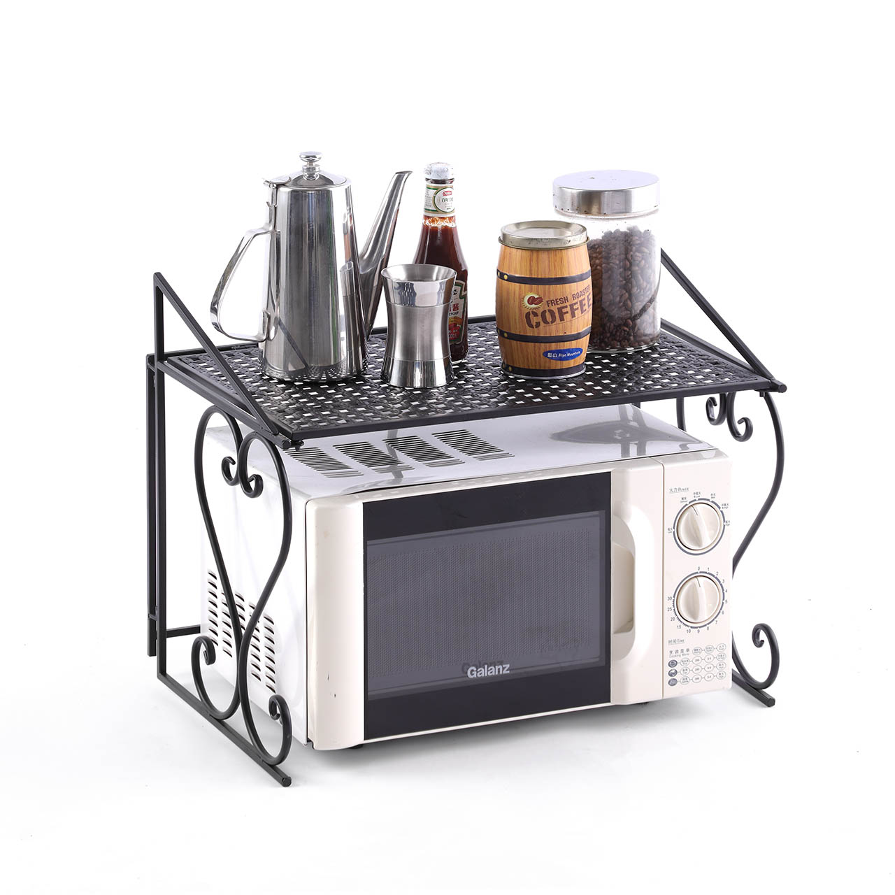 metal microwave oven rack shelf kitchen shelves counter and cabinet shelf by dazone