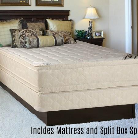Continental Sleep Foam Encased Fully Assembled Eurotop 14 Orthopedic Mattress And Split Box Spring