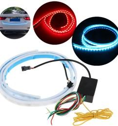 3 color flow type flowing led strip car trunk side turn signal rear light waterproof walmart com [ 1200 x 1200 Pixel ]