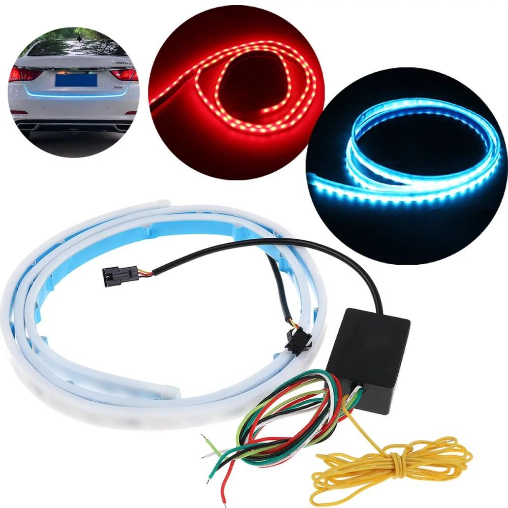 medium resolution of 3 color flow type flowing led strip car trunk side turn signal rear light waterproof walmart com