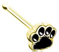 Nose Ring 20g Pet dog cat paw pawprint Nose Stud 20g ...