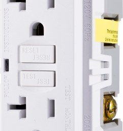 ge ultrapro in wall gfci receptacle power outlet 20amp self testing white 32077 walmart com [ 2203 x 4623 Pixel ]