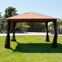 10' x 12' Outdoor Backyard Regency Patio Canopy Gazebo ...