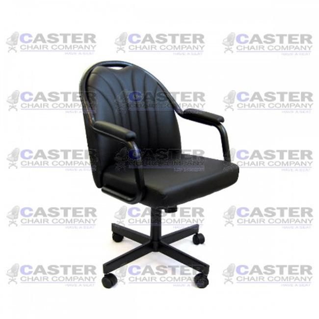 caster dining chairs bamboo rocking chair company 24 inch c190 empire casual rolling with upholstered arms and black polyurethane walmart com