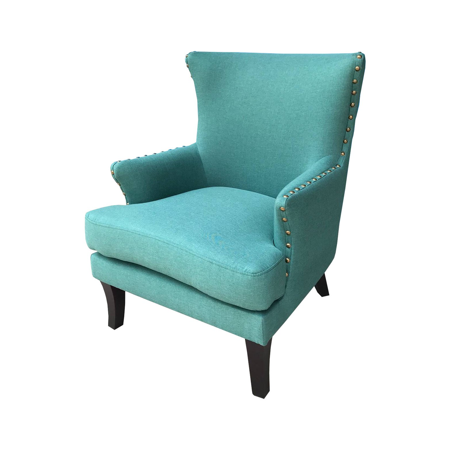 Teal Wingback Chair Incadozo Bethany Upholstered Wingback Accent Chair