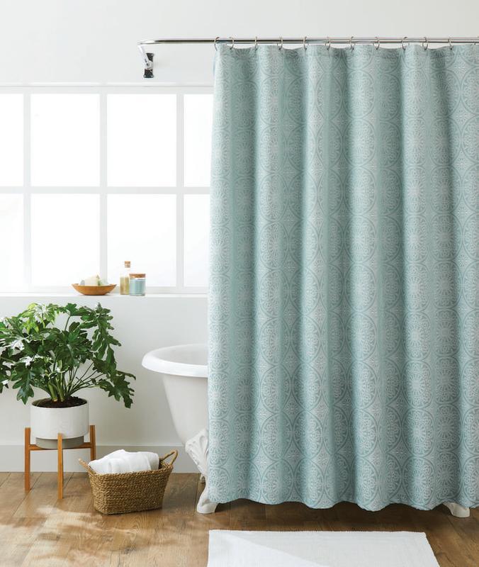 better homes gardens woven jacquard medallion shower curtain 72 x72 walmart com