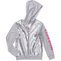 Hello Kitty Girls Full Zip Sequin Hoodie