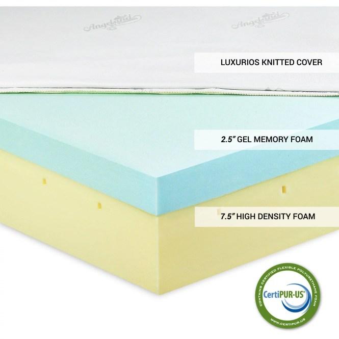 Furinno Healthy Sleep 10 Viscoelastic Luxury Gel Memory Foam Mattress Multiple Sizes