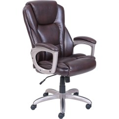 Leather Chair Office Safavieh Dining Chairs Target Serta Big Tall Commercial With Memory Foam Walmart Com
