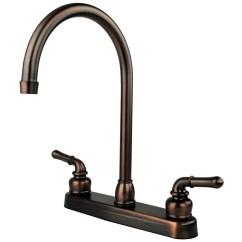 Oil Rubbed Bronze Kitchen Sink Sheer Curtains Rv Mobile Home Faucet 14 5 Spout Walmart Com