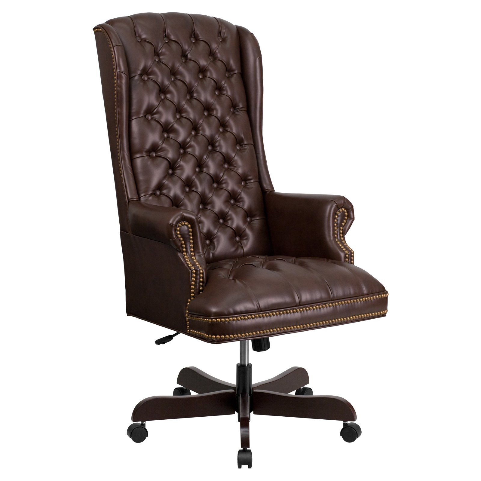 Tufted Leather Office Chair Flash Furniture High Back Traditional Tufted Leather Executive Swivel Office Chair Multiple Colors